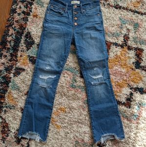 Madewell Button Front Cali Demi Boot Jeans